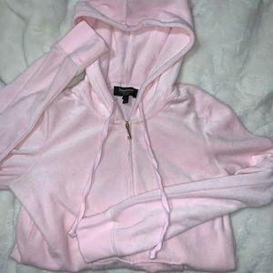 Baby Pink, Juicy Couture, velvet, zip up